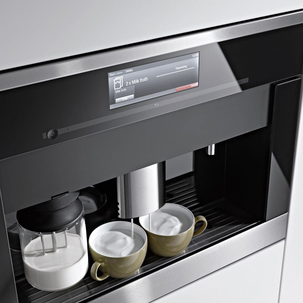 Perfekter kaffeegenuss in der eigenen küche